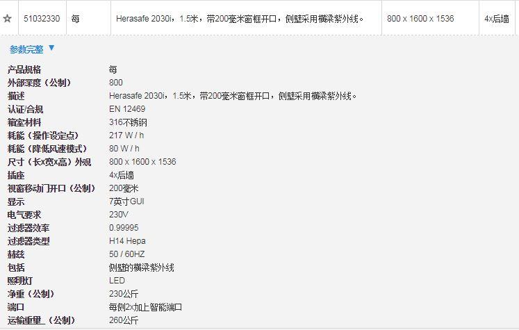 Herasafe 2030i系列全新智能生物安全柜-价格-厂家-供应商-赛默飞世尔科技